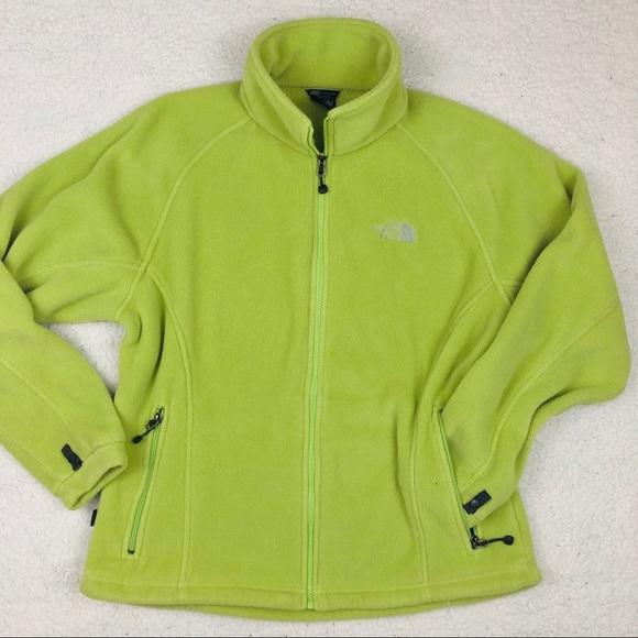 halvin lenkkitossut alennus The North Face Lime Green Fleece Jacket/ Sweater